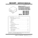 Sharp MX-DE25, MX-26, MX-27 (serv.man2) Service Manual