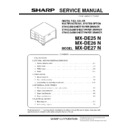 Sharp MX-DE25, MX-26, MX-27 Service Manual