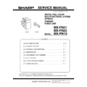 Sharp MX-FN21, MX-FN22, MX-PN13 (serv.man3) Service Manual