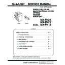 Sharp MX-FN21, MX-FN22 (serv.man4) Service Manual