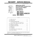 Sharp MX-FNX10 Service Manual