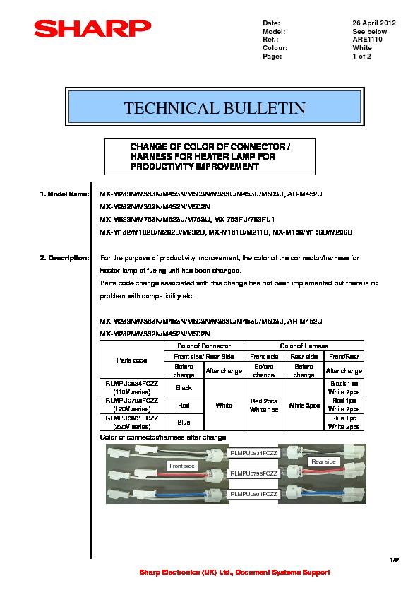 sharp mx m200d mx m200dk serv man24 technical bulletin free rh servicemanuals us