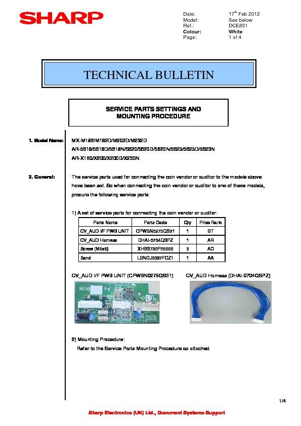 sharp mx m232d serv man33 technical bulletin free download rh servicemanuals us