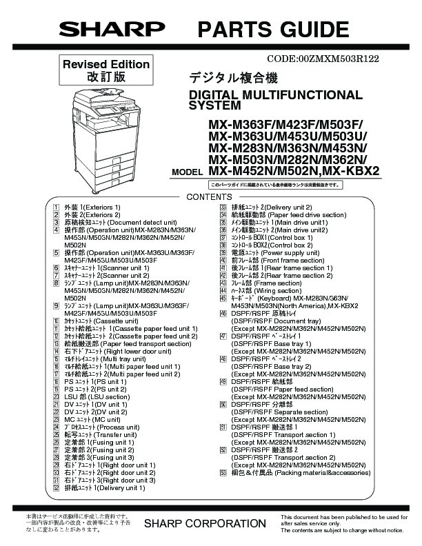 sharp mx m283n serv man7 technical bulletin free download rh servicemanuals us Sharp MX 2600N PCL6 Driver sharp mx 2600n service manual pages