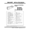 Sharp MX-M904, MX-M1204 (serv.man9) Service Manual