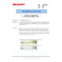 Sharp MX-M950, MX-MM1100 (serv.man94) Technical Bulletin
