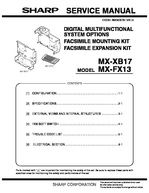 sharp ar c150 ar c250 service manual