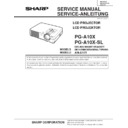 Sharp PG-A10X (serv.man3) Service Manual