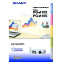 Sharp PG-A10X (serv.man34) User Guide / Operation Manual