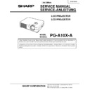 Sharp PG-A10XA (serv.man2) Service Manual