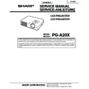 Sharp PG-A20X (serv.man2) Specification