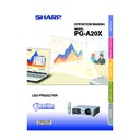 Sharp PG-A20X (serv.man24) User Guide / Operation Manual