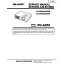 Sharp PG-A20X (serv.man3) Service Manual