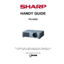 Sharp PG-A20X Handy Guide