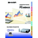 Sharp PG-MB60X (serv.man30) User Guide / Operation Manual
