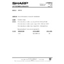 Sharp XG-SV1E (serv.man17) Technical Bulletin
