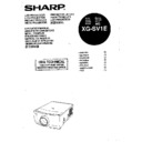 Sharp XG-SV1E (serv.man4) User Guide / Operation Manual