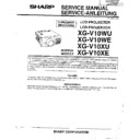 Sharp XG-V10WE (serv.man3) Service Manual