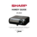 Sharp XR-20X Handy Guide