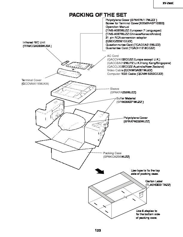 Sharp Xv Z90e Serv Man22 Parts Guide