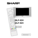 Sharp 28LF-92H (serv.man4) User Guide / Operation Manual