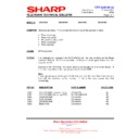 Sharp 28LF-92H (serv.man8) Technical Bulletin