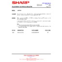 Sharp 28LF-92H (serv.man9) Technical Bulletin
