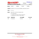 Sharp 28LW-92H (serv.man10) Technical Bulletin