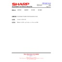 Sharp 28LW-92H (serv.man18) Technical Bulletin