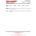 Sharp 28LW-92H (serv.man20) Technical Bulletin