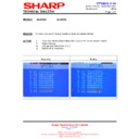 Sharp 28LW-92H (serv.man21) Technical Bulletin