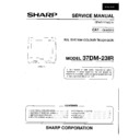 Sharp 37DM-23H (serv.man2) Service Manual
