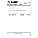 Sharp 37DM-23H (serv.man27) Technical Bulletin