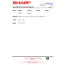 Sharp 59DS-05H (serv.man33) Technical Bulletin