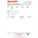 Sharp 59DS-05H (serv.man40) Technical Bulletin