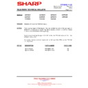 Sharp 66FW-54H (serv.man18) Technical Bulletin