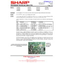Sharp 66FW-54H (serv.man21) Technical Bulletin