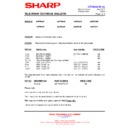 Sharp 66FW-54H (serv.man34) Technical Bulletin