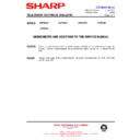 Sharp 66FW-54H (serv.man39) Technical Bulletin