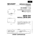 Sharp 66FW-54H (serv.man4) Service Manual