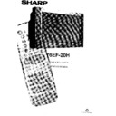 Sharp 76EF-20H (serv.man25) User Guide / Operation Manual