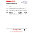 Sharp 76FW-54H (serv.man45) Technical Bulletin
