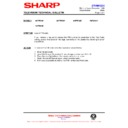 Sharp 76FW-54H (serv.man47) Technical Bulletin