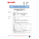 Sharp LC-15A2E (serv.man13) Technical Bulletin