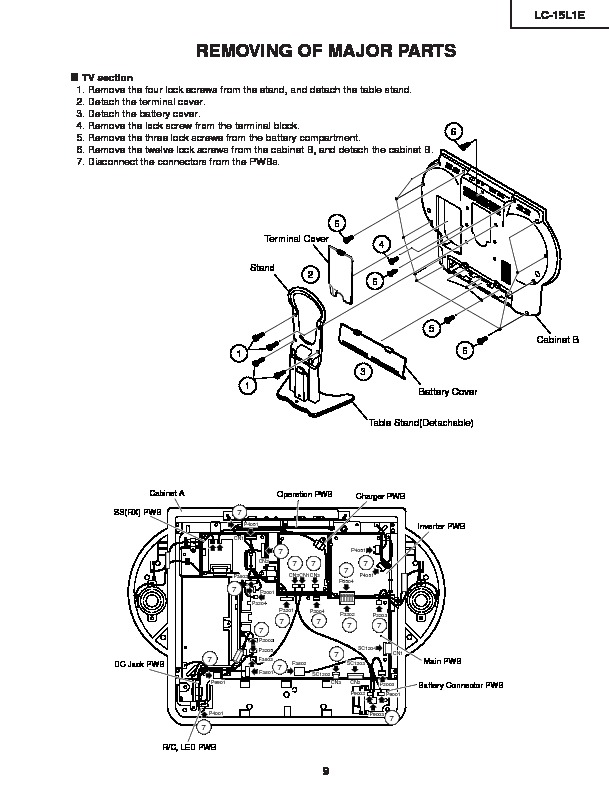 sharp lc-15l1e  serv man10  service manual
