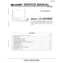Sharp LC-20VM2E (serv.man2) Service Manual