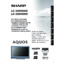 Sharp LC-32DH500E (serv.man23) User Guide / Operation Manual