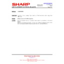 Sharp LC-32DH500E (serv.man26) Technical Bulletin