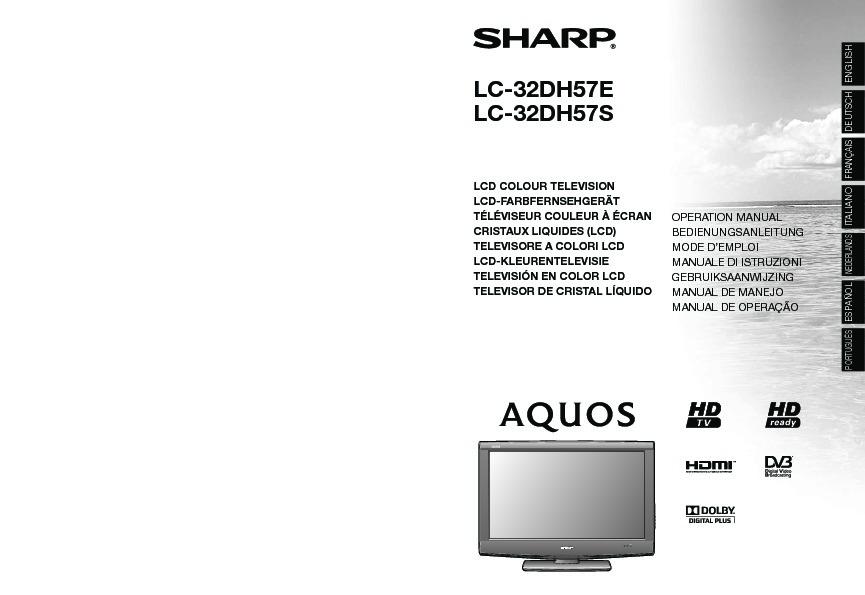 Sharp LC-32DH57E (SERV MAN6) Service Manual - FREE DOWNLOAD