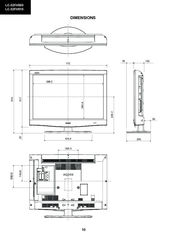 Sharp Lc-32fh510e  Serv Man3  Service Manual